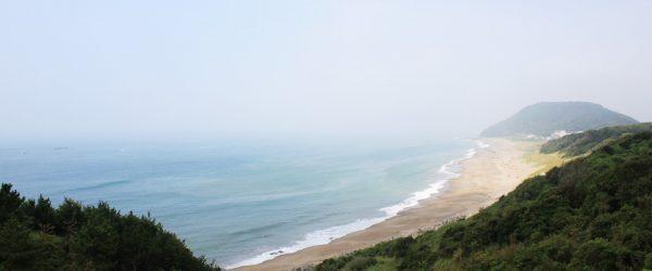 渥美半島の丘上から見える海の景色