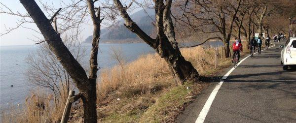 二本松キャンプ場から海津大崎あたりを走る公道