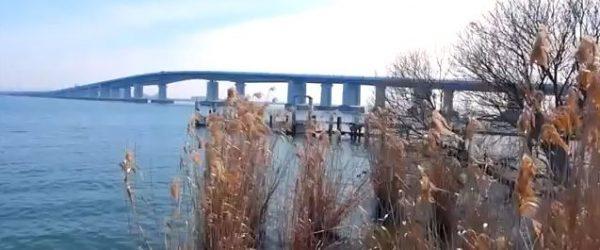 琵琶湖大橋を眺める