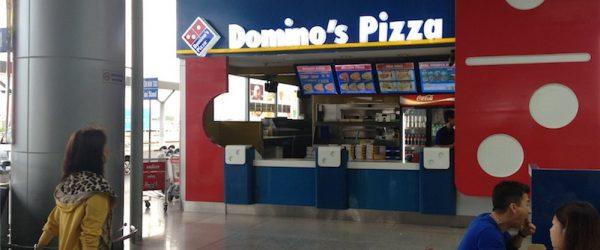 タンソンニャット国際空港3F Wi-Fiが繋がるDominoピザ