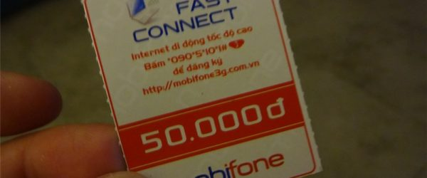 一ヶ月ネット使用無制限(パケットし放題)のmobifoneのPhoneカードを購入