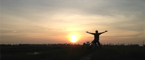 カンボジアの朝日