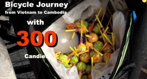 【動画】アメ300個がカンボジアの子供を笑顔にする自転車の旅